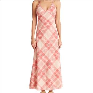 Polo - Ralph Lauren Plaid Maxi Dress in Pink/Cream